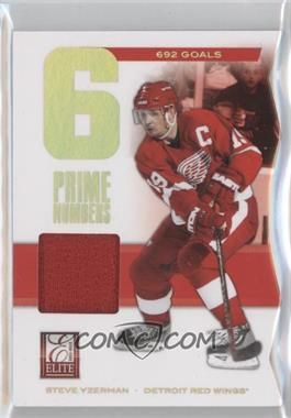 2011-12 Panini Elite - Prime Numbers Jerseys #2 - Steve Yzerman /692