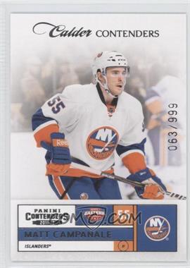 2011-12 Panini Playoff Contenders - [Base] #182 - Matt Campanale /999