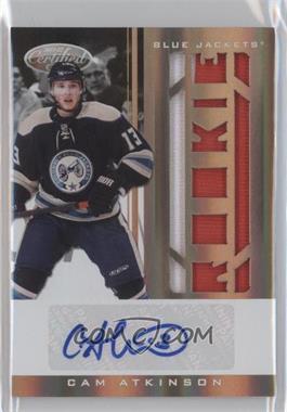 2011-12 Panini Rookie Anthology - Certified Freshman Fabrics Signatures - Mirror Gold #265 - Cam Atkinson /25