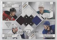 Ryan Callahan, Joe Pavelski, Ryan Kesler, Zach Parise #/75