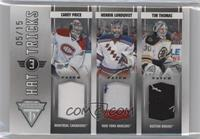 Henrik Lundqvist, Tim Thomas, Carey Price #/15