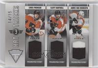 James van Riemsdyk, Chris Pronger, Scott Hartnell #/15