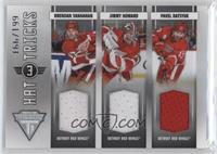 Brendan Shanahan, Jimmy Howard, Pavel Datsyuk #/199