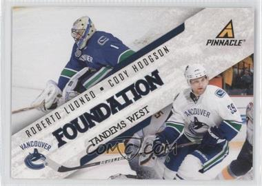 2011-12 Pinnacle - Foundation Tandems West #9 - Cody Hodgson, Roberto Luongo