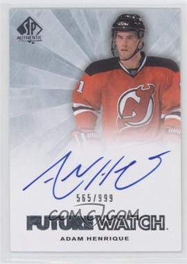 2011-12 SP Authentic - [Base] #239 - Autographed Future Watch - Adam Henrique /999