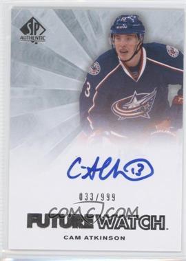 2011-12 SP Authentic - [Base] #252 - Autographed Future Watch - Cam Atkinson /999
