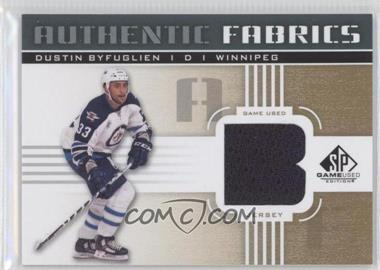 2011-12 SP Game Used Edition - Authentic Fabrics - Gold #AF-BY - Dustin Byfuglien (B)