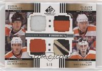 Chris Pronger, Claude Giroux, James van Riemsdyk, Ilya Bryzgalov #/8