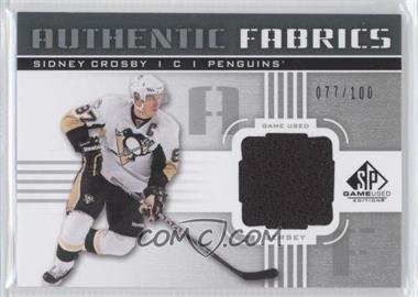 2011-12 SP Game Used Edition - Authentic Fabrics #AF-SC - Sidney Crosby /100