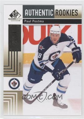 2011-12 SP Game Used Edition - [Base] - Gold #110 - Authentic Rookies - Paul Postma /50