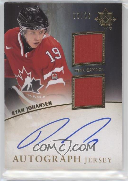 2011-12 Ultimate Collection - Autograph - Jersey  UJ-RJ - Ryan Johansen  25 55380c393