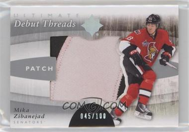 2011-12 Ultimate Collection - Debut Threads - Patch #DT-MZ - Mika Zibanejad /100