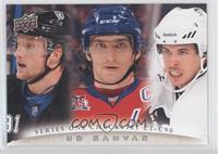 Steven Stamkos, Alex Ovechkin, Sidney Crosby