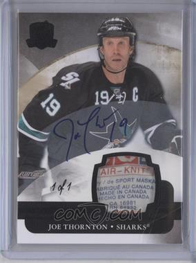 2011-12 Upper Deck The Cup - [Base] - Laundry Tag [Autographed] [Memorabilia] #74 - Joe Thornton /1