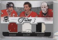 Denis Savard, Doug Wilson, Tony Esposito [Noted] #/25