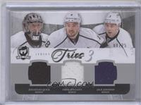 Jonathan Quick, Drew Doughty, Jack Johnson #/25