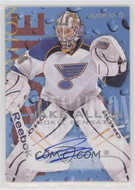 2012-13 Fleer Retro - 1994-95 Fleer Rookie Sensations Design Autographs - [Autographed] #9 - Jake Allen