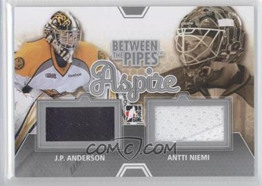 2012-13 In the Game Between the Pipes - Aspire - Silver #ASP-05 - J.P. Anderson, Antti Niemi /140
