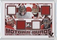 Jimmy Howard, Dominik Hasek, Mike Vernon, Curtis Joseph #/1