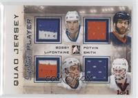 Mike Bossy, Pat LaFontaine, Billy Smith, Denis Potvin #/1