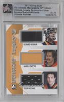 Richard Brodeur, Harold Snepsts, Tiger Williams [Uncirculated] #/20