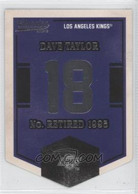 2012-13 Panini Classics Signatures - Banner Numbers #EN38 - Dave Taylor