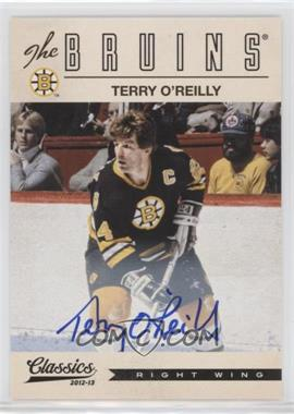 2012-13 Panini Classics Signatures - [Base] - Autographs [Autographed] #186 - Terry O'Reilly