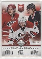 Carolina Hurricanes (Elias Lindholm, Jared Staal, Ryan Murphy) #/499