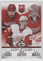 Detroit Red Wings (Brian Lashoff, Danny DeKeyser, Petr Mrazek) #/499