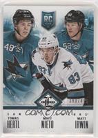 San Jose Sharks (Tomas Hertl, Matt Nieto, Matt Irwin) #/499