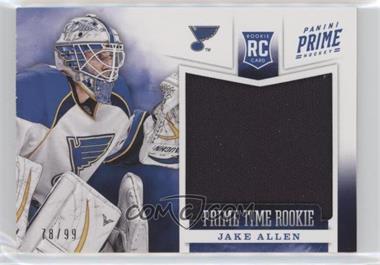 2012-13 Panini Prime - Prime Time Rookies #5 - Jake Allen /99