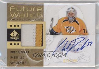 2012-13 SP Authentic - [Base] - Limited Auto Patch #225 - Chet Pickard /100