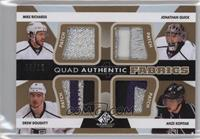 Mike Richards, Jonathan Quick, Drew Doughty, Anze Kopitar #/12