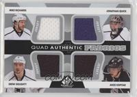 Mike Richards, Jonathan Quick, Drew Doughty, Anze Kopitar