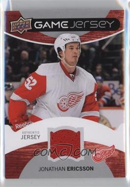 2012-13 Upper Deck - Game Jersey #GJ-JE - Jonathan Ericsson