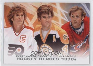 2012-13 Upper Deck - Hockey Heroes 1970s #HH39 - Bobby Orr, Bobby Clarke, Guy Lafleur
