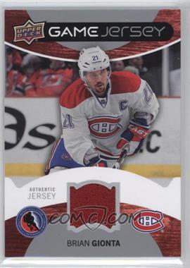 2012-13 Upper Deck - NHL Team Fan Days Game Jersey #HOF-BG - Brian Gionta
