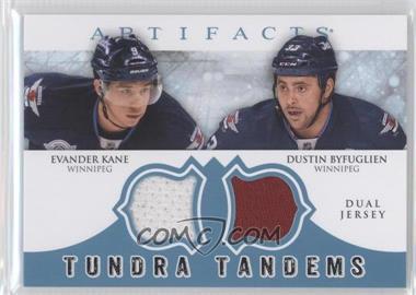 2012-13 Upper Deck Artifacts - Tundra Tandems Dual Jerseys - Blue #TT-BK - Evander Kane, Dustin Byfuglien