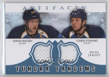 2012-13 Upper Deck Artifacts - Tundra Tandems Dual Jerseys - Blue #TT-BS - David Backes, Chris Stewart