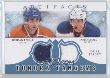 2012-13 Upper Deck Artifacts - Tundra Tandems Dual Jerseys - Blue #TT-EH - Jordan Eberle, Taylor Hall