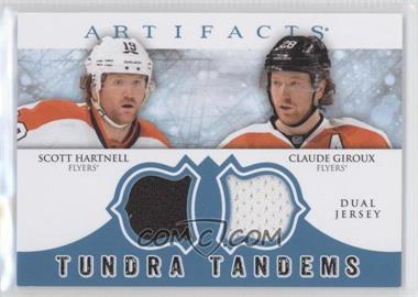 2012-13 Upper Deck Artifacts - Tundra Tandems Dual Jerseys - Blue #TT-HG - Scott Hartnell, Claude Giroux
