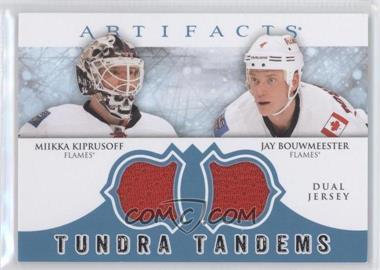 2012-13 Upper Deck Artifacts - Tundra Tandems Dual Jerseys - Blue #TT-KB - Miikka Kiprusoff, Jay Bouwmeester