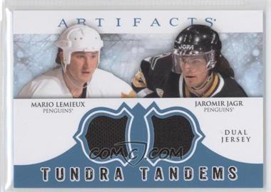 2012-13 Upper Deck Artifacts - Tundra Tandems Dual Jerseys - Blue #TT-LJ - Jaromir Jagr, Mario Lemieux