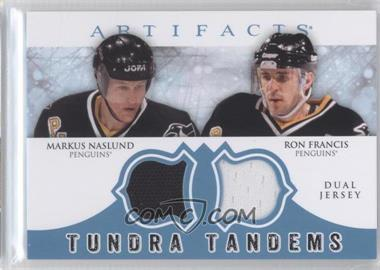 2012-13 Upper Deck Artifacts - Tundra Tandems Dual Jerseys - Blue #TT-NF - Markus Naslund, Ron Francis