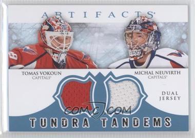 2012-13 Upper Deck Artifacts - Tundra Tandems Dual Jerseys - Blue #TT-VN - Tomas Vokoun, Michal Neuvirth