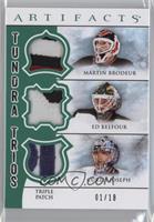 Curtis Joseph, Ed Belfour, Martin Brodeur #/18