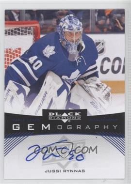2012-13 Upper Deck Black Diamond - Gemography - [Autographed] #GEM-RY - Jussi Rynnas