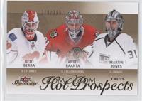 Hot Prospects Trios - Martin Jones, Reto Berra, Antti Raanta #/399