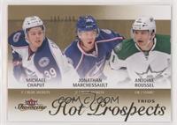 Hot Prospects Trios - Jonathan Marchessault, Michael Chaput, Antoine Roussel #/…