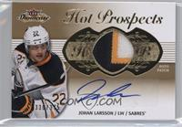 Hot Prospects Auto Patch Tier 1 - Johan Larsson #/375